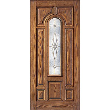 Therma tru cc16 oak entry door at carter lumber carter for Therma tru fiberglass entry doors prices