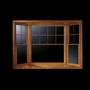 Andersen 400 series 30 double hung bay windows with for Wood double hung andersen 400 series