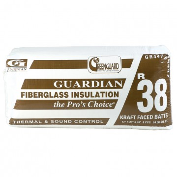 Guardian pre cut batts insulation r38 carter lumber for What s the difference between faced and unfaced insulation