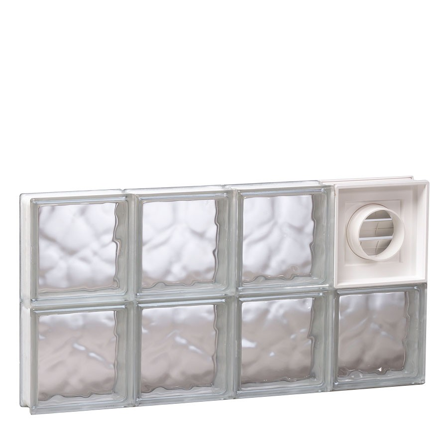 Redi2set 32 x 16 glass block with dryer vent carter lumber for Glass block alternatives