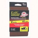 3X21In 40Grit Alum Ox Belt 2Pk