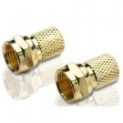In-Line F Connector Gold 2Pk