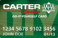 Credit with Carter Lumber