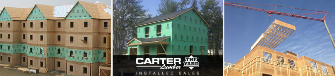 Carter lumber installed sales