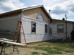 Insulated house wrap for airtight insulation