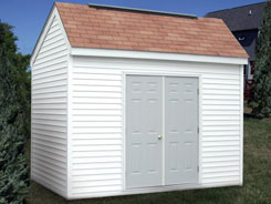 Saltbox steel storage sheds