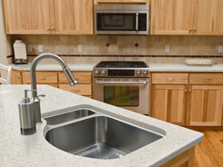 Solid surface kitchen countertops at Carter Lumber